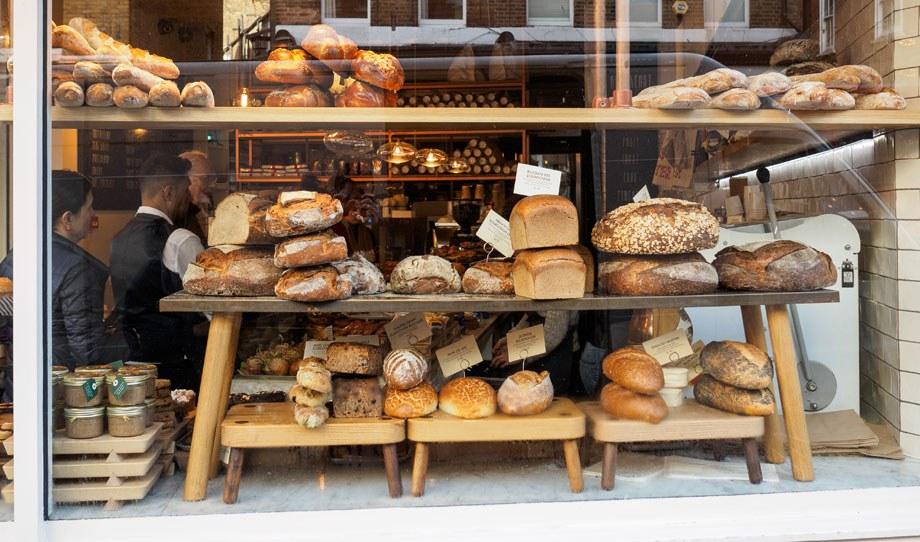 Interesting Bakery Window Shop Display