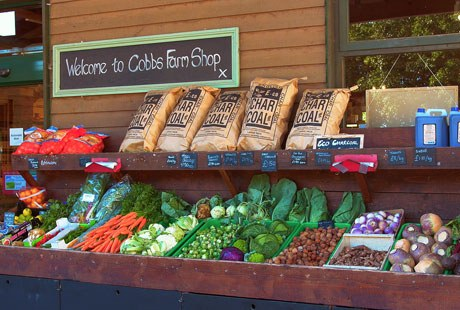 Cobbs Farm Shop Produce Display Front