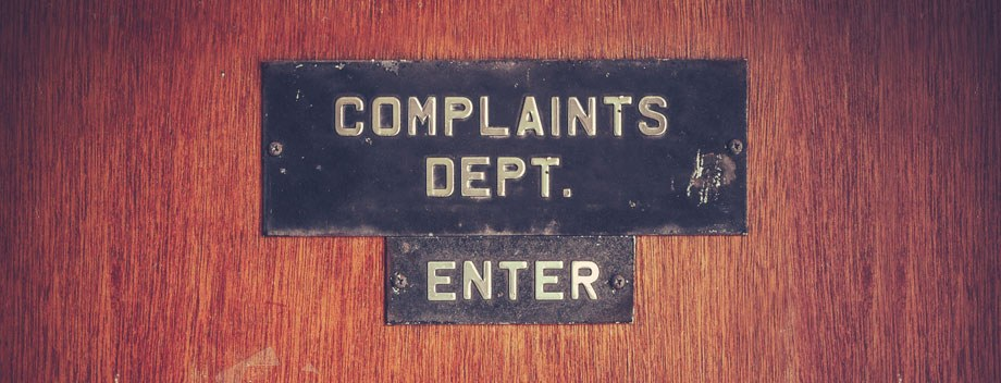 Customer Complaints Dept