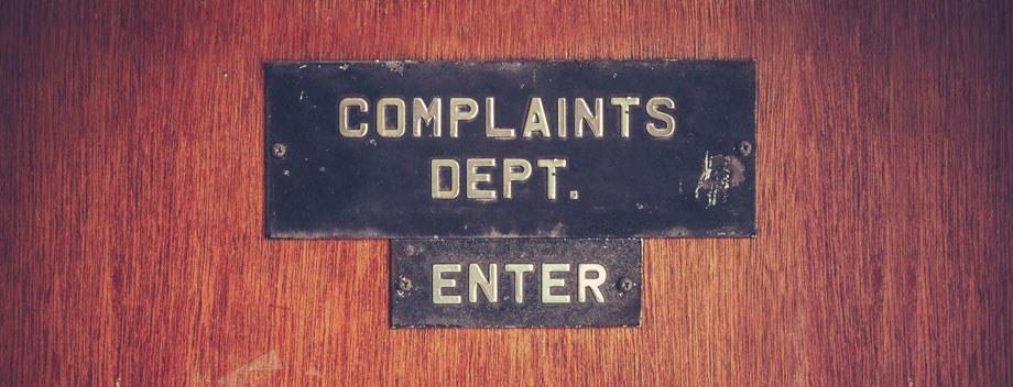 Customer Complaints Dept