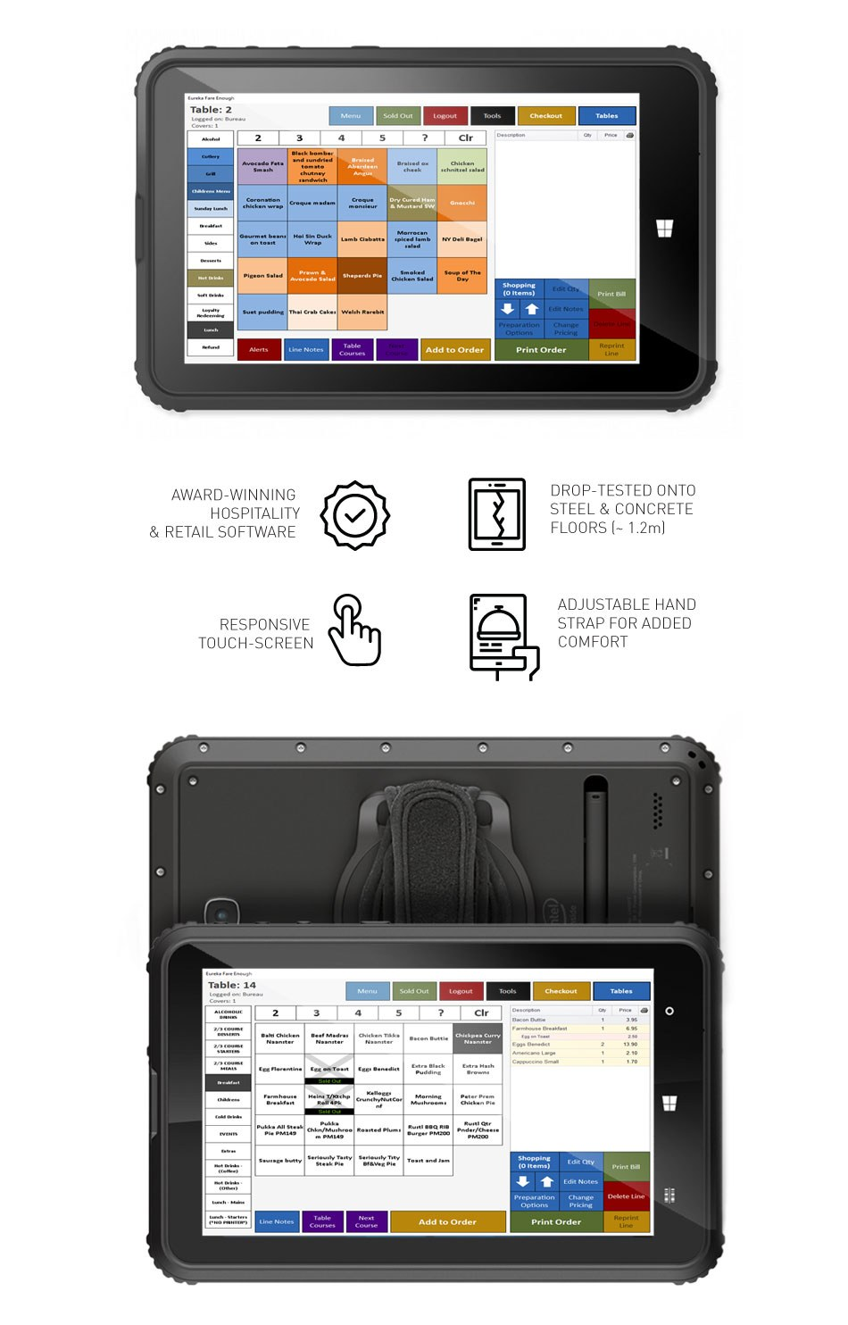 Touch Screen Tablet EPOS System For Cafes Restaurants
